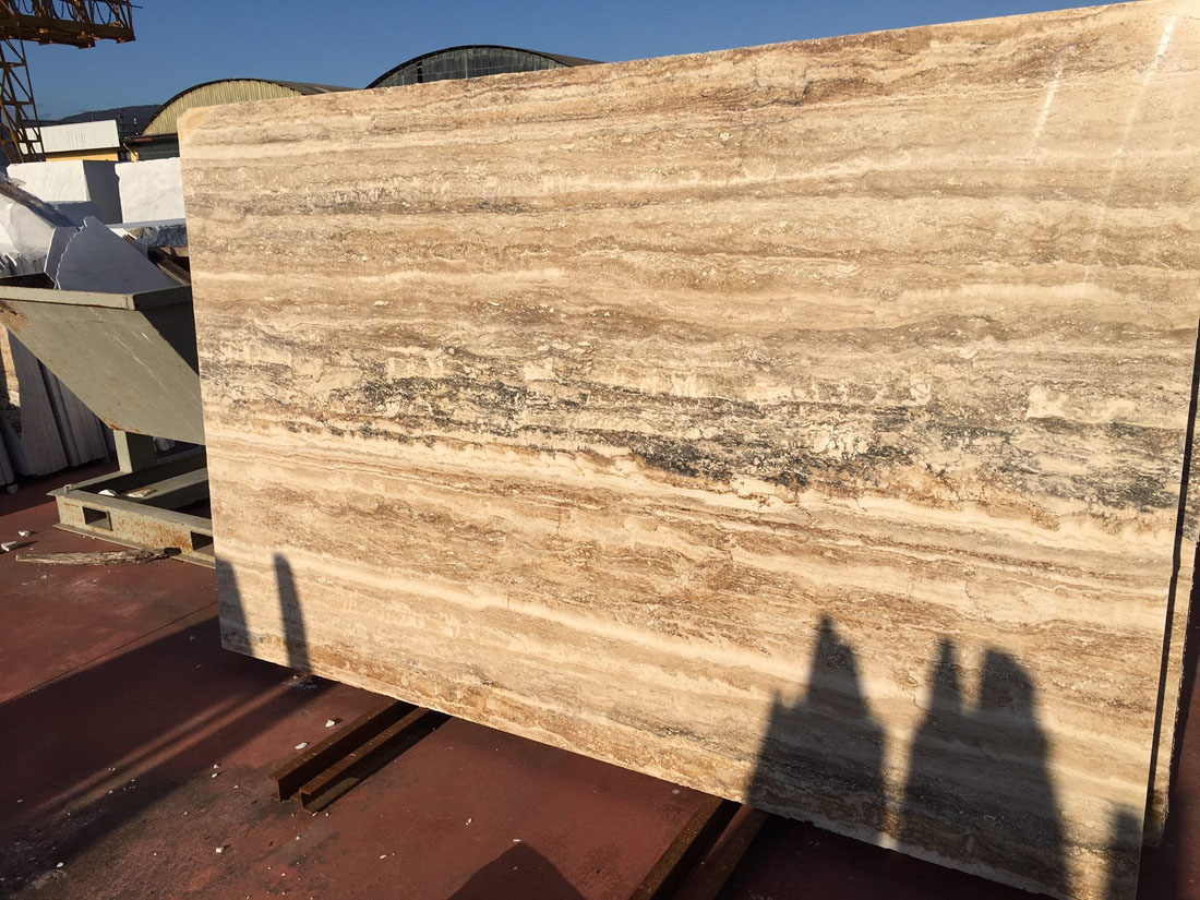 Travertino Ocean Slab Beige Travertine from Italy
