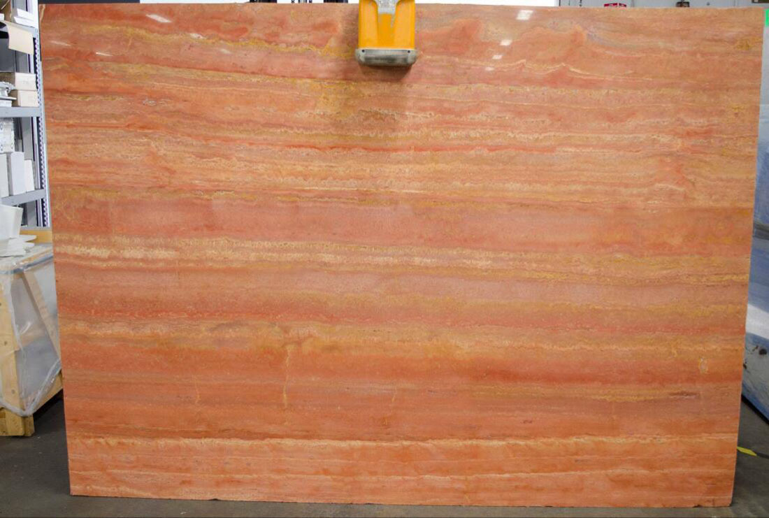 Travertino Red Polished Travertine Slabs