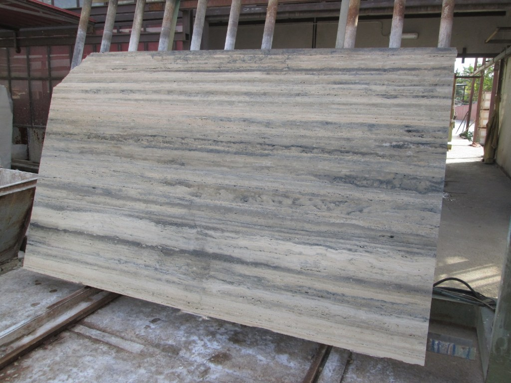 Travertino Roman Silver Slabs