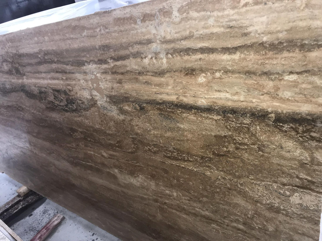 Travertino Romano Classico Brown Travertine Slabs