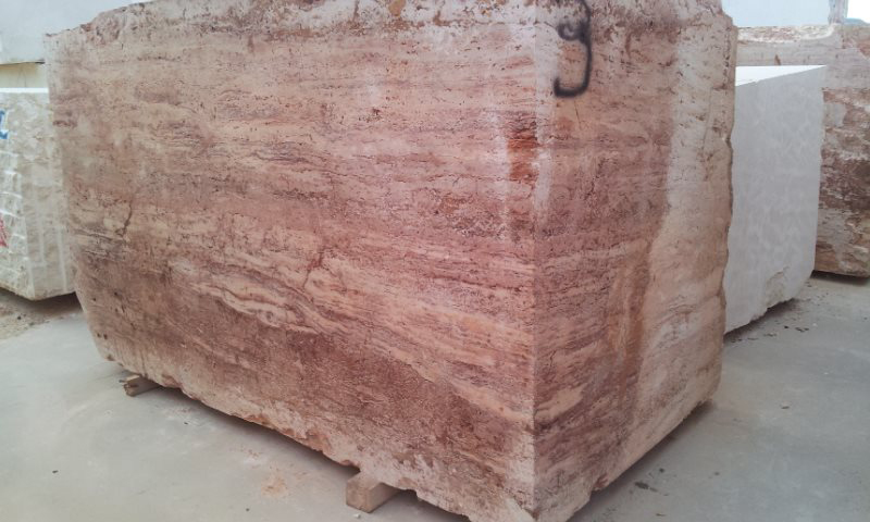 Travertino Rose Natural Stone Blocks from Spain