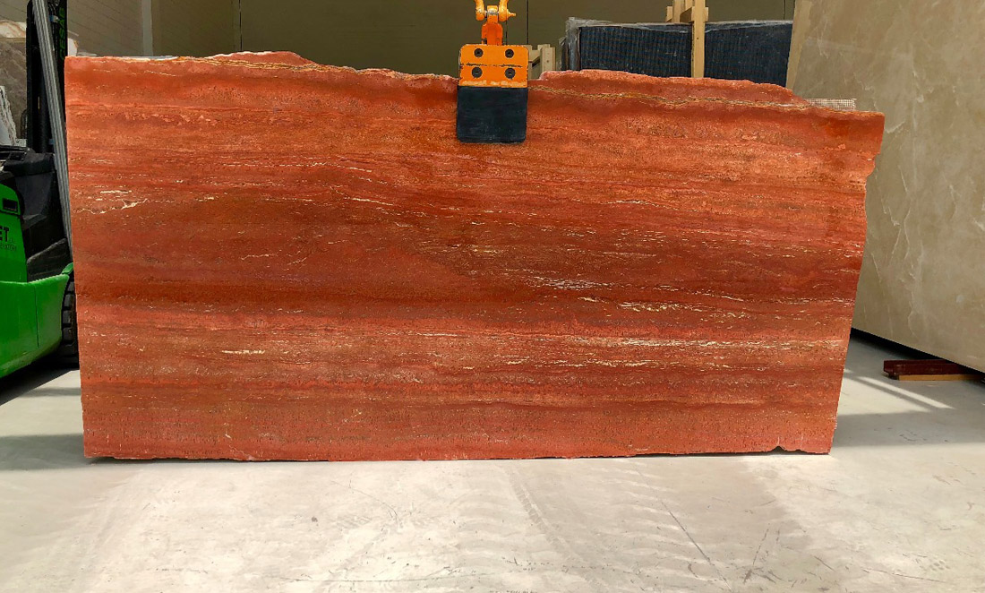 Travertino Rosso Stone Slabs Red Travertine Slabs