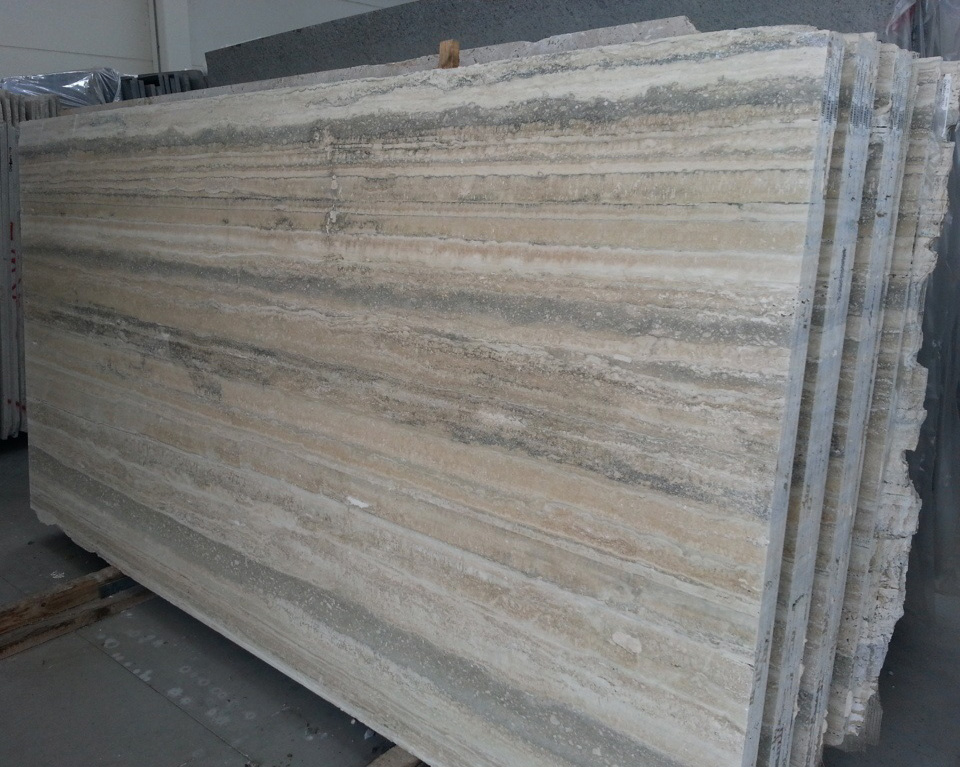 Travertino Silver Slabs Italian Top Quality Travertine Slabs