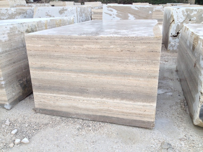 Travertino Silver Travertine Block