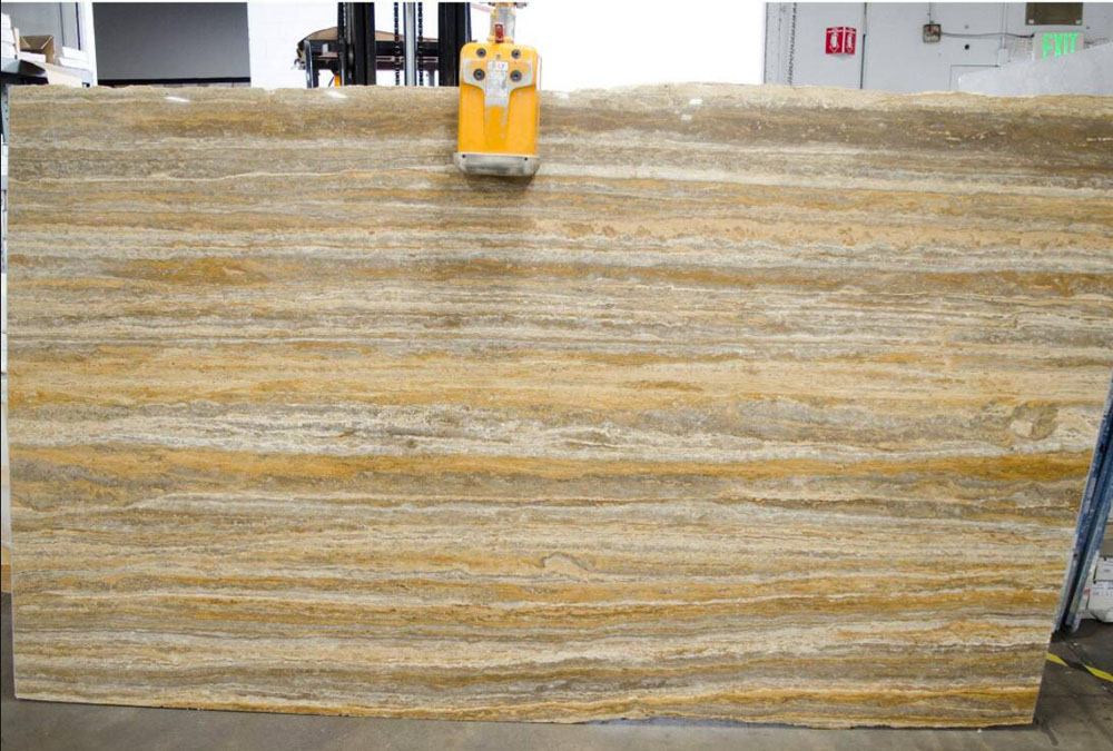 Travertino Titanium Gold Polished Travertine Slabs