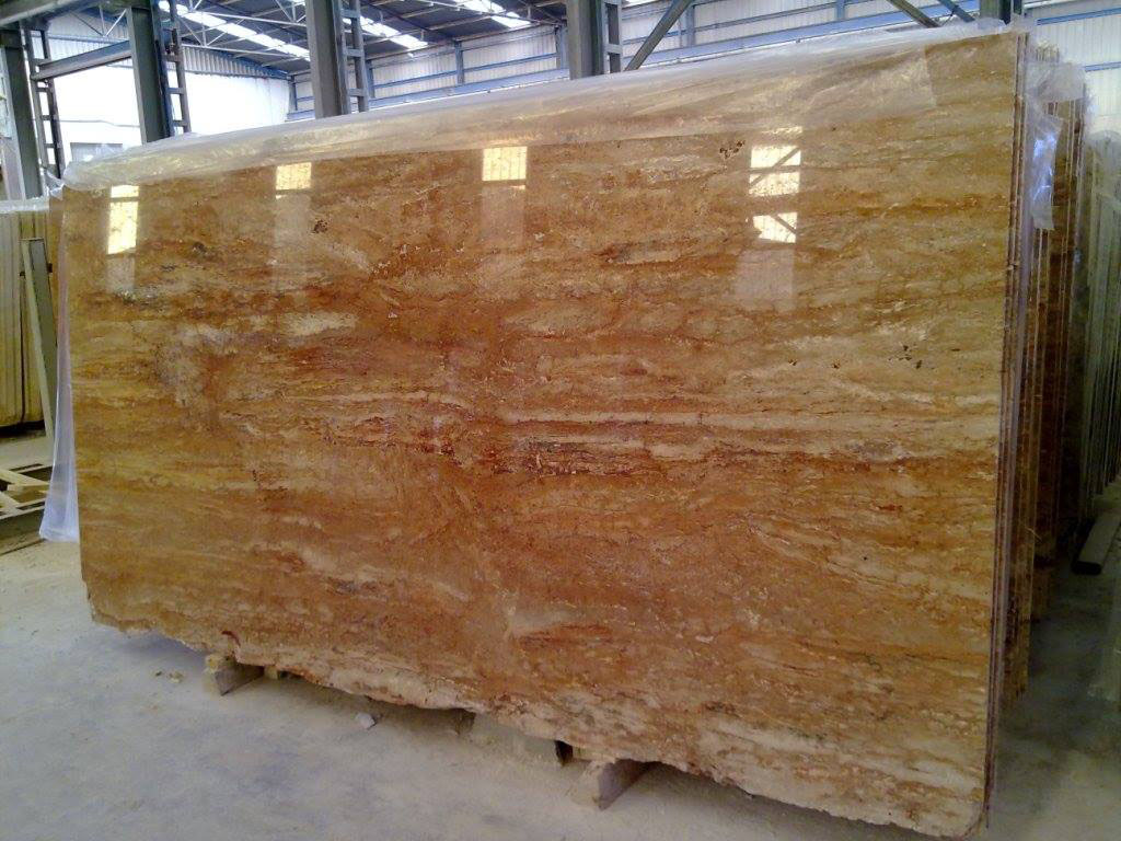 Travertino Rose Polished Travertine Slabs