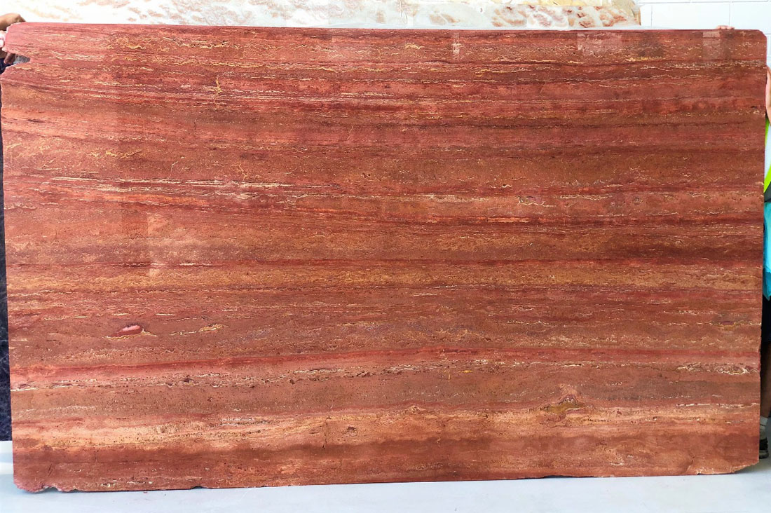 Travertiono Rosso Red Travertine Stone Slabs