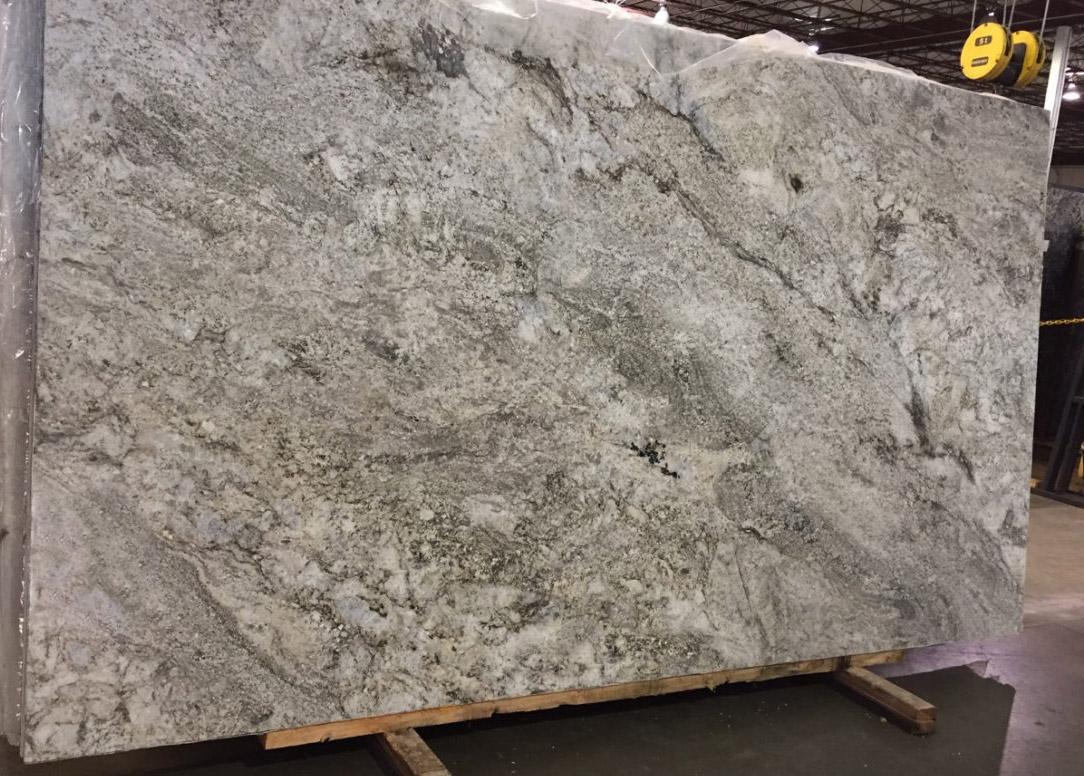 Tribeca White Granite Slab White Polished Granite Stone Slabs for Countertops