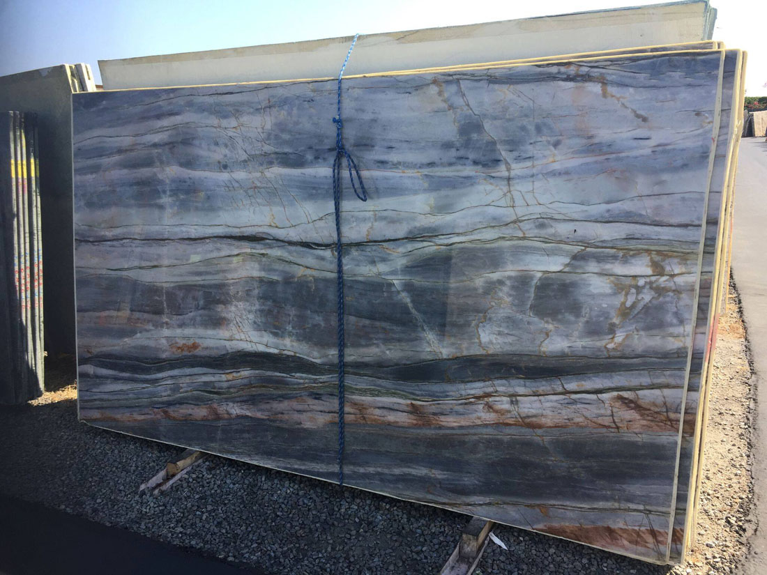 Tropical Blue Quartzite Slabs With High Quality
