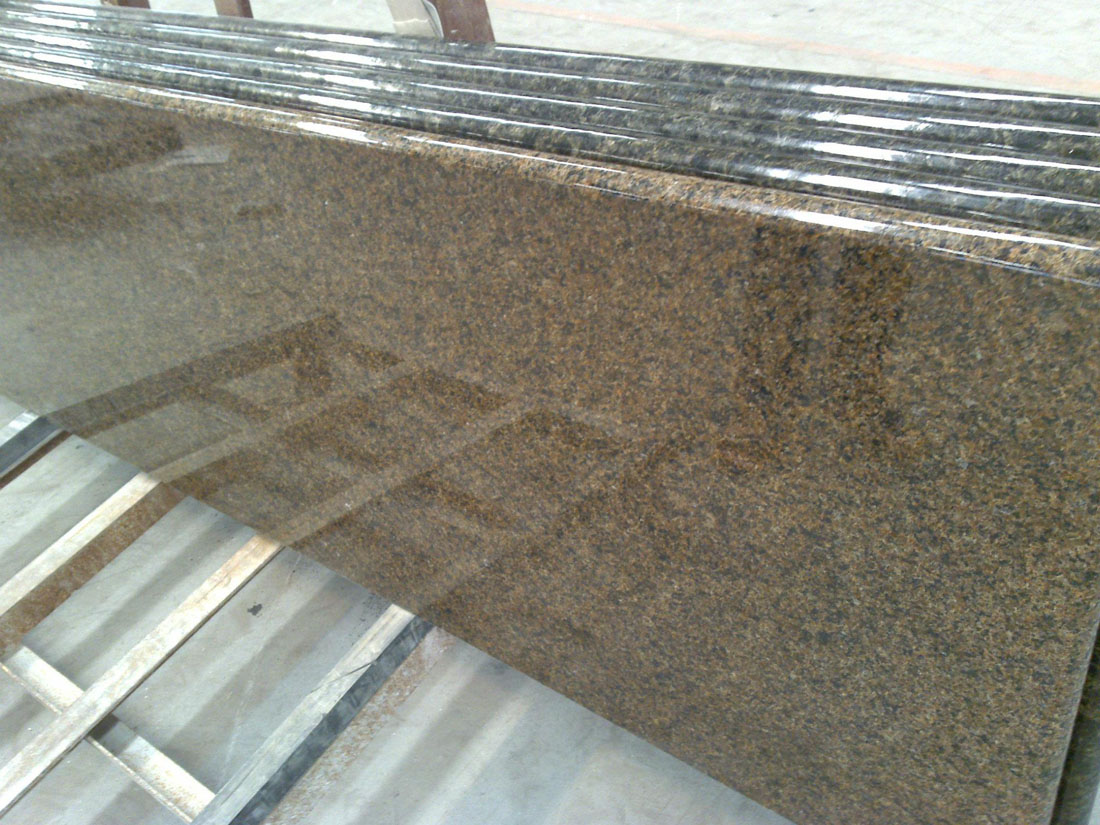 Tropical Brown Natural Granite Polished Countertops Kitchen