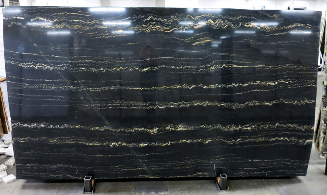 Tropical Storm Granite Slabs Black Polished Granite Slabs