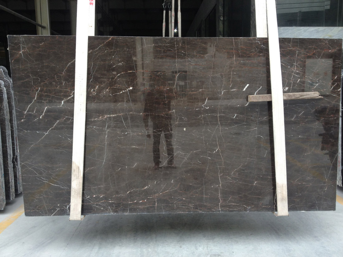 Tulip Brown Saint Laurent Marble Slabs Polished Slabs
