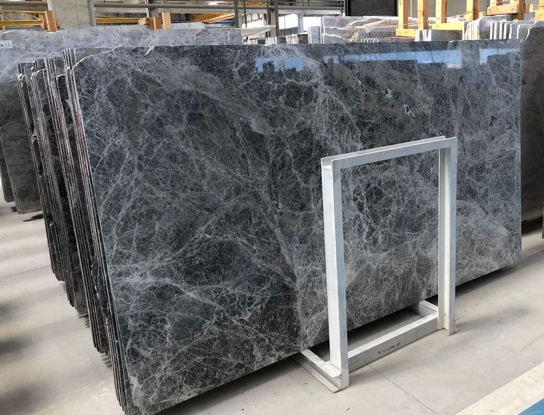 Tundra Blue Marble Slabs Turkish Polished Marble Stone Slabs for Walls