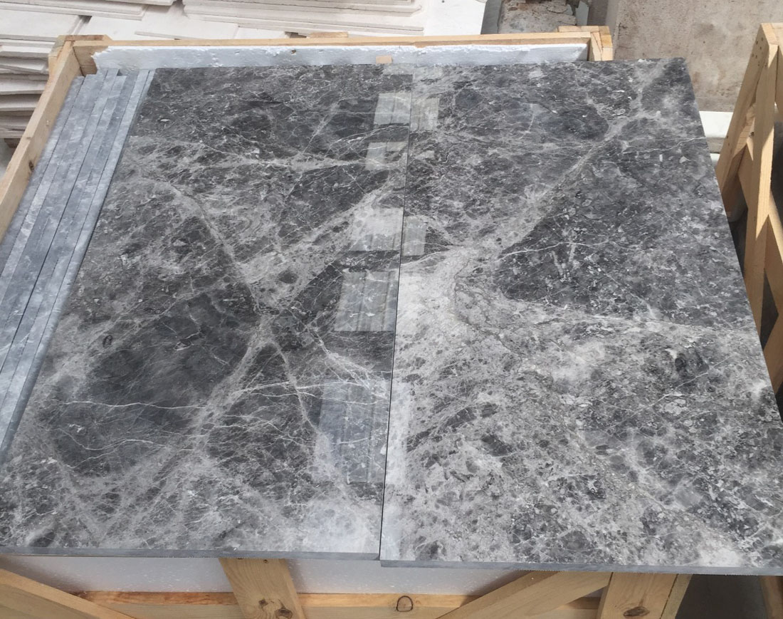 Tundra Blue Marble Tiles Competitive Polished Marble Flooring Tiles