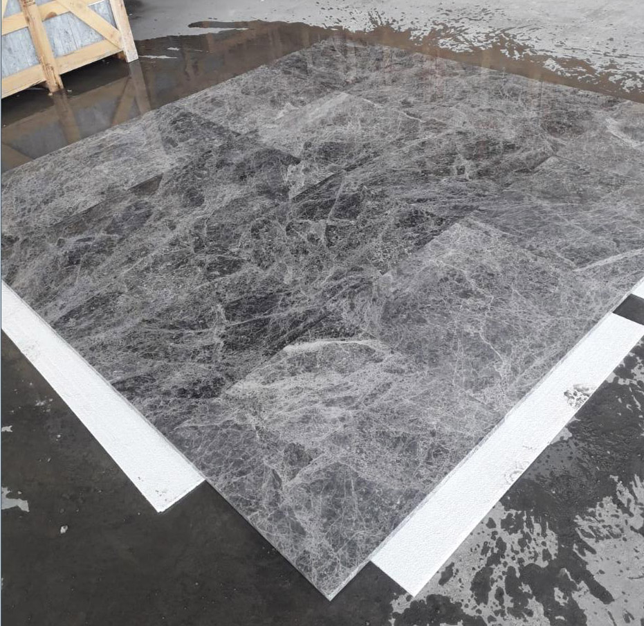 Tundra Blue Marble Tiles Turkish Polished Marble Stone Tiles for Flooring