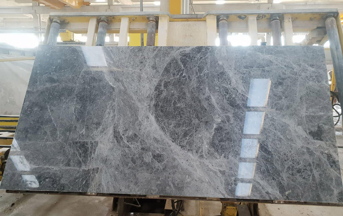 Tundra Blue Slabs Turkish Polished Blue Marble Slabs for Walls