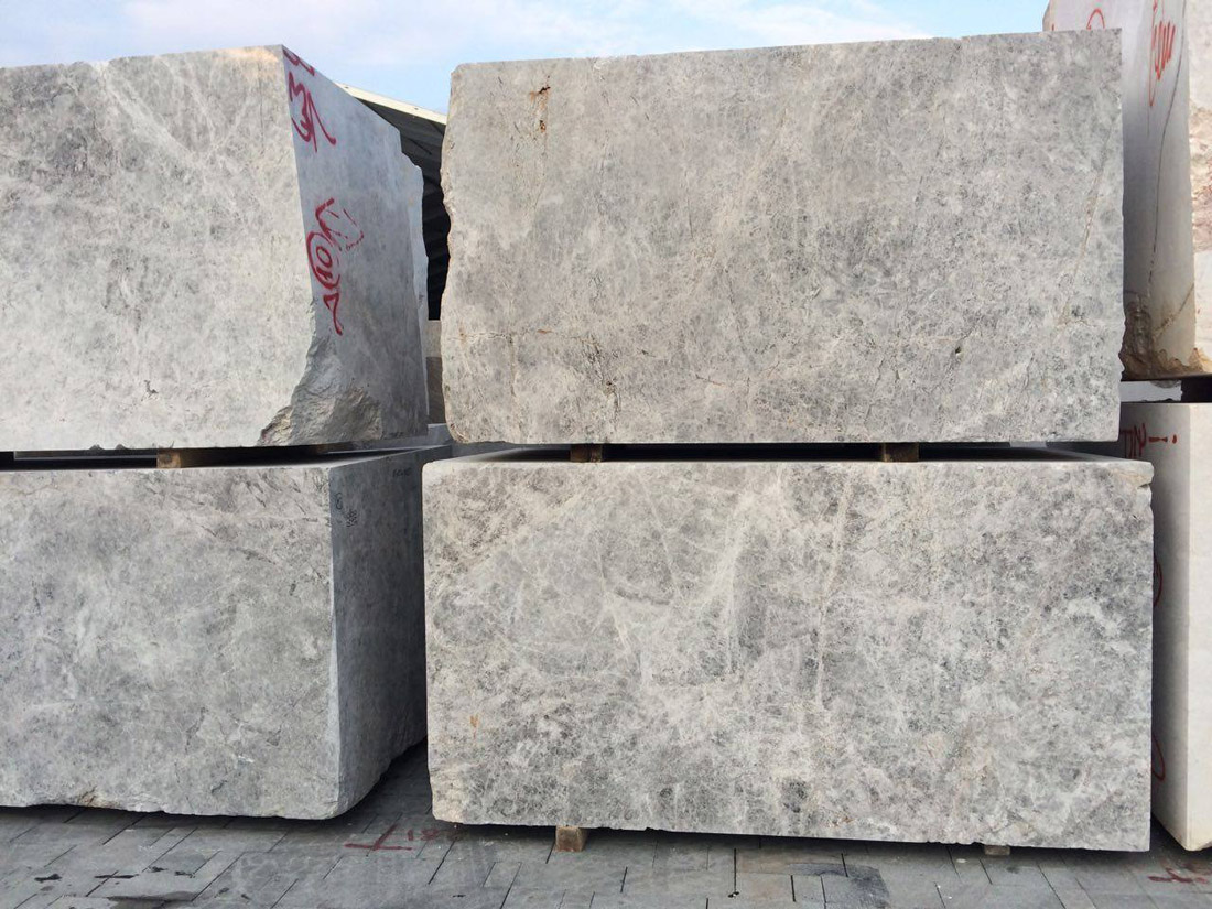 Tundra Grey Marble Blocks Turkish Grey Natural Blocks