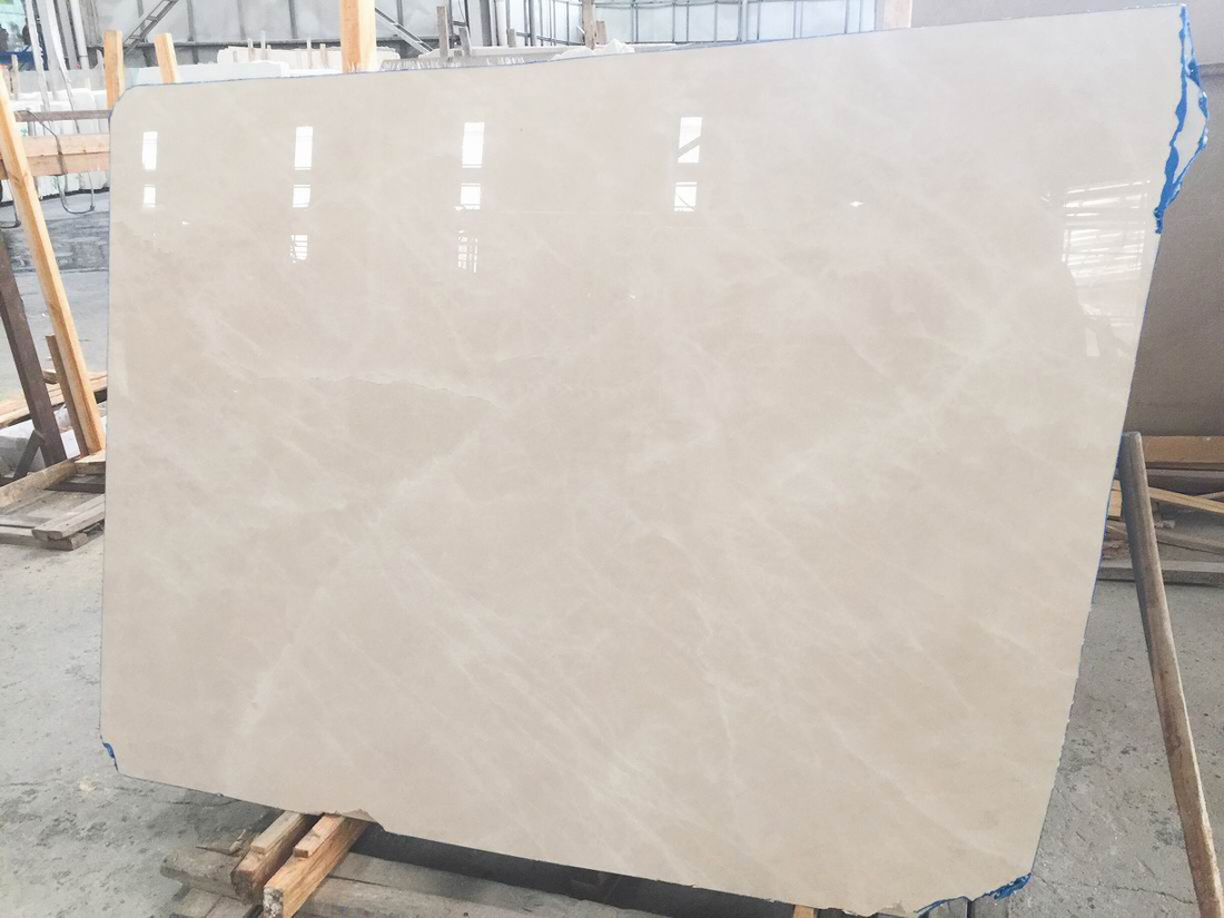 Turkey Baiyu Aran White Cream And Corinthian Beige Marble Slab