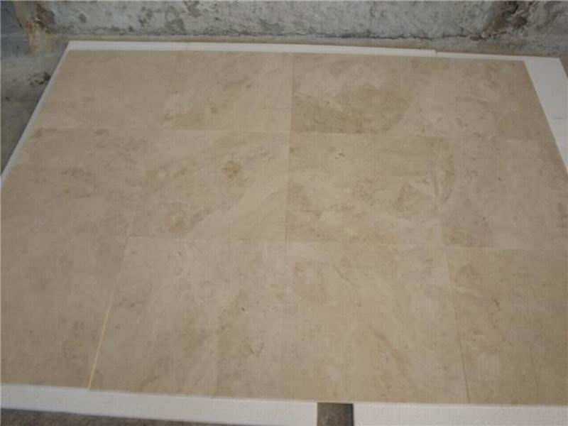Turkey Cappucino Beige Marble Tiles Polished Beige Stone Flooring Tiles