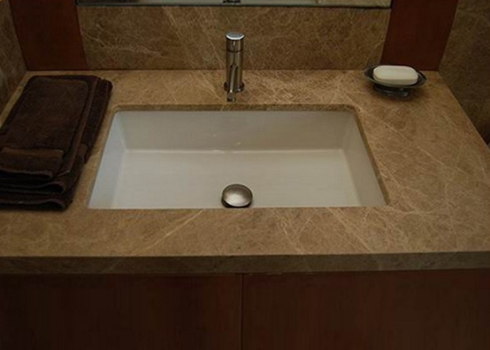Turkey Crystal Light Emperado Marble Vanity Tops