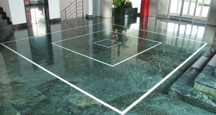 Turkey Green Marble Tiles Polished Green Flooring Stone Tiles
