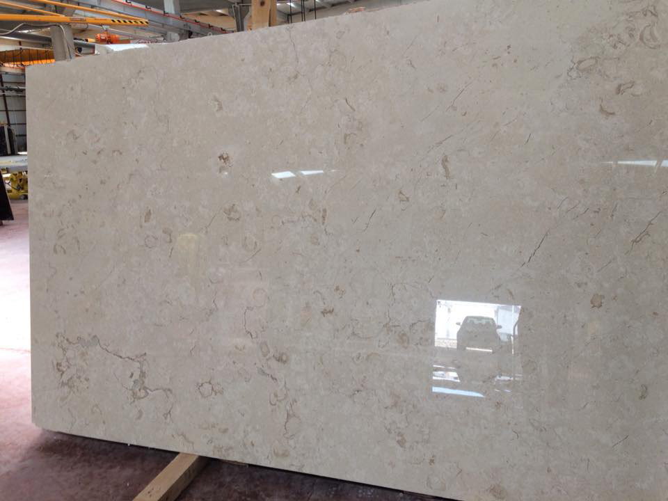 Turkey Perlato Marble Polished Beige Slabs