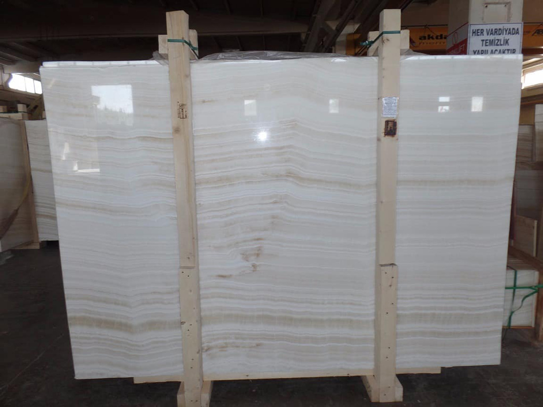 Turkish Akdag Onyx Slabs White Polished Onyx Slab