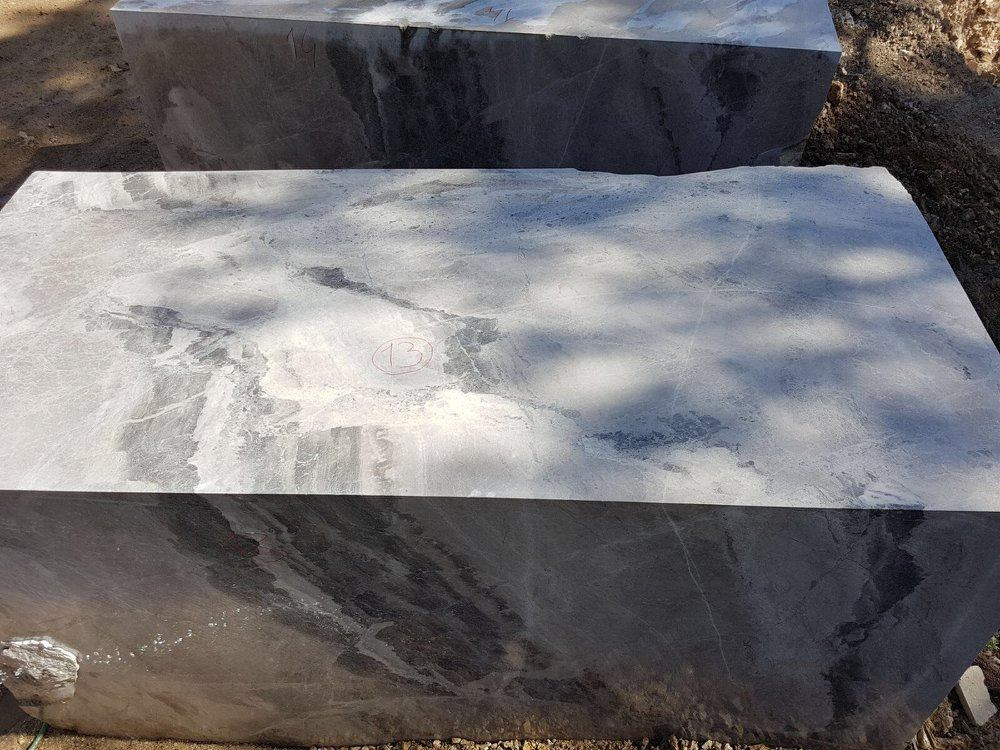 Turkish Atlantic Grey Marble Blocks Natural Stone Blocks