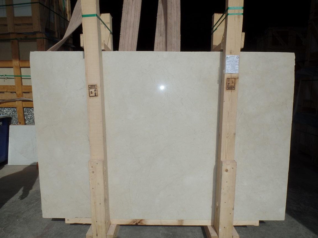 Turkish Beige Creamsa Marble Polished Slabs