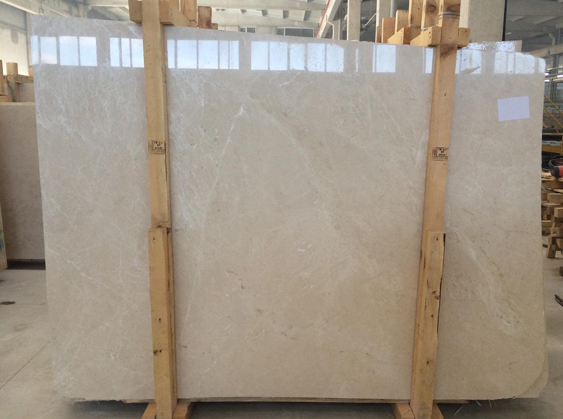 Turkish Beige Stone Slabs Burdur Cream Beige Polished Marble Slab