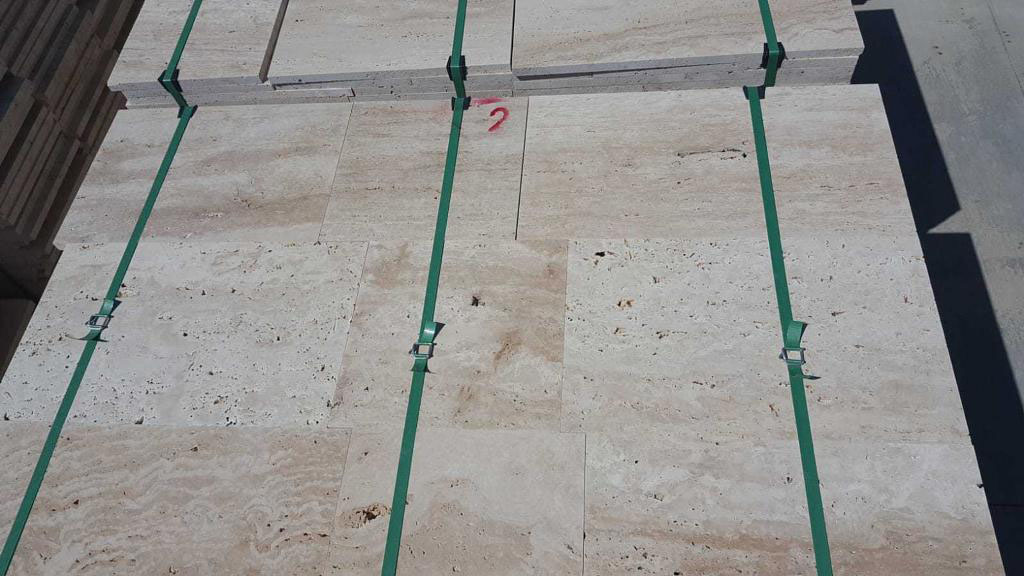 Turkish Beige Travertine Vein Cut Tiles
