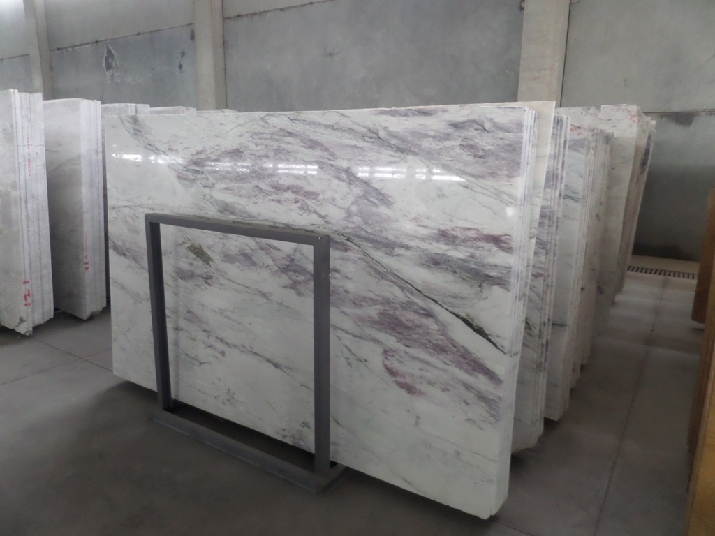Turkish Bianco Viola Marble Slabs Polished Marble Slabs for Walls