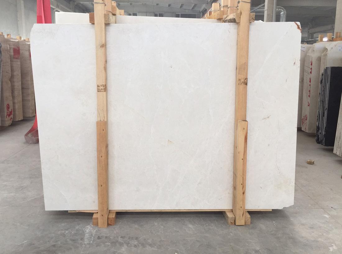 Turkish Burdur Ice Beige Polished Marble Slab