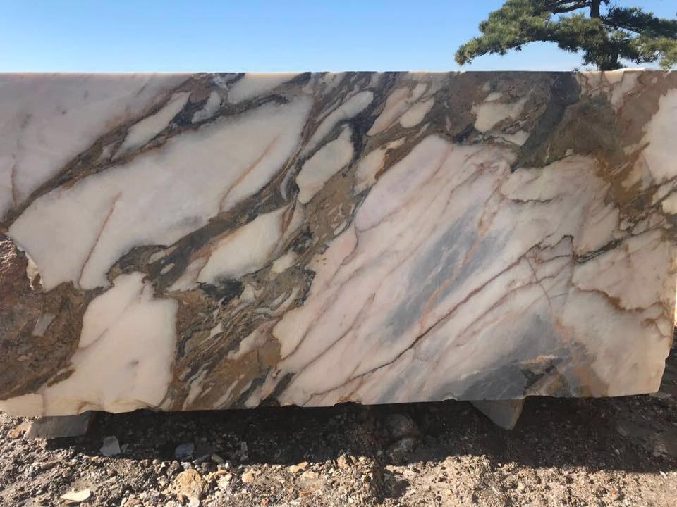 Turkish Calacata Gold Marble Natural Blocks