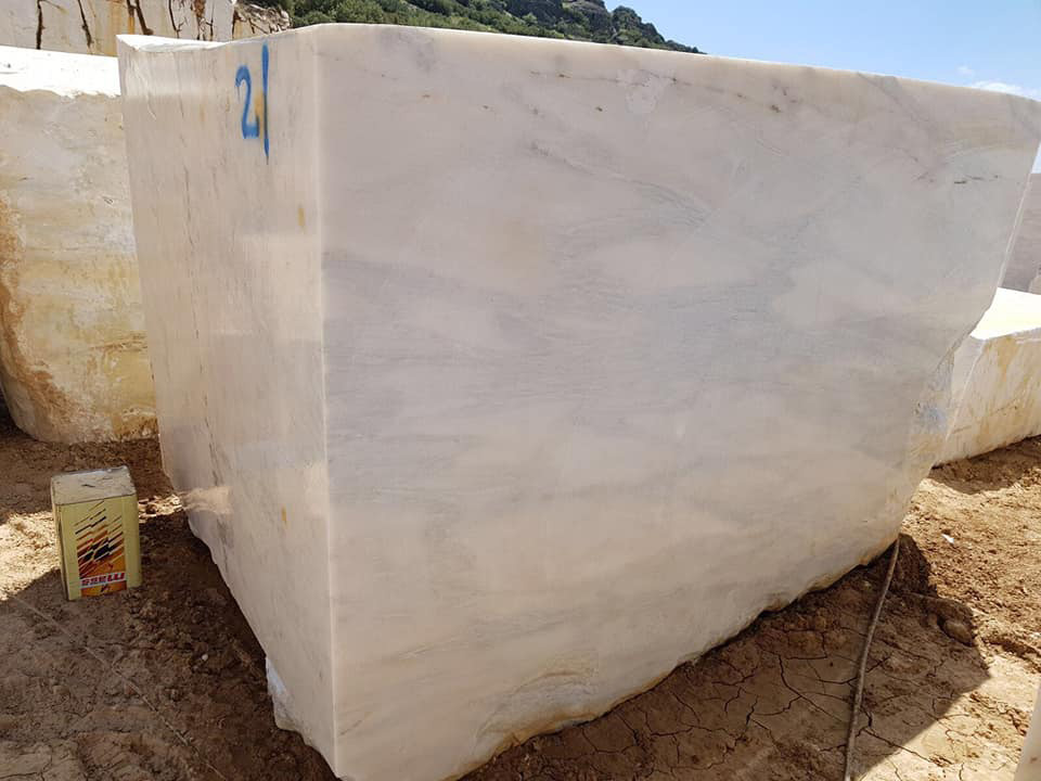 Turkish Calacata White Natural Marble Blocks