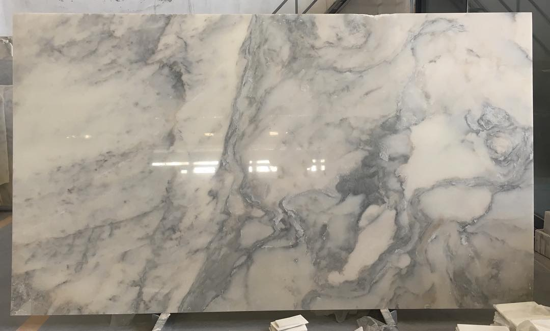 Turkish Calacatta Verde Slabs Polished White Marble Slabs