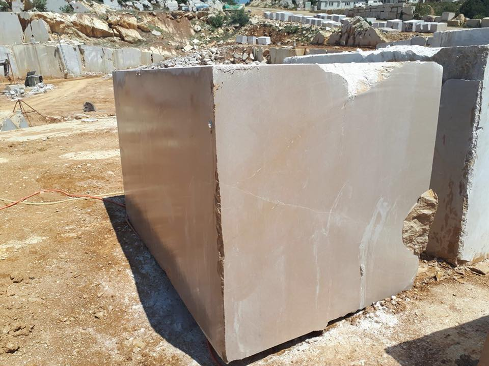 Turkish Cream Beige Block Natural Beige Marble Stone Blocks