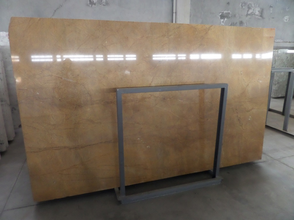 Turkish Giallo Marmo Marble Slabs Polished Yellow Marble Stone Slabs