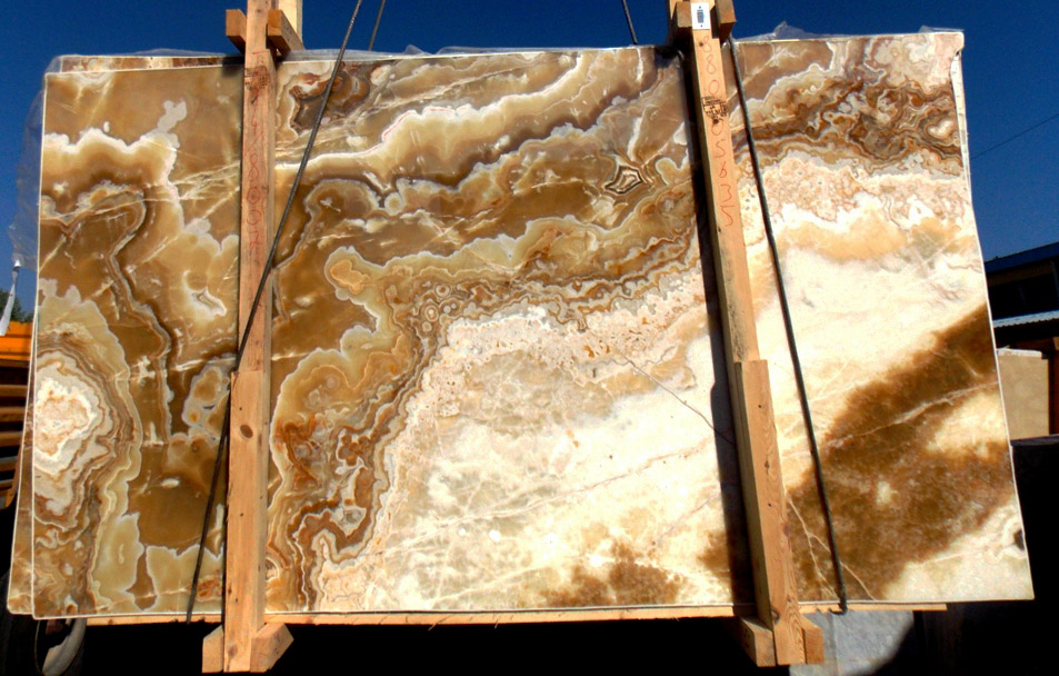 Turkish Golden Cloud Onyx Slabs Yellow Onyx Slabs