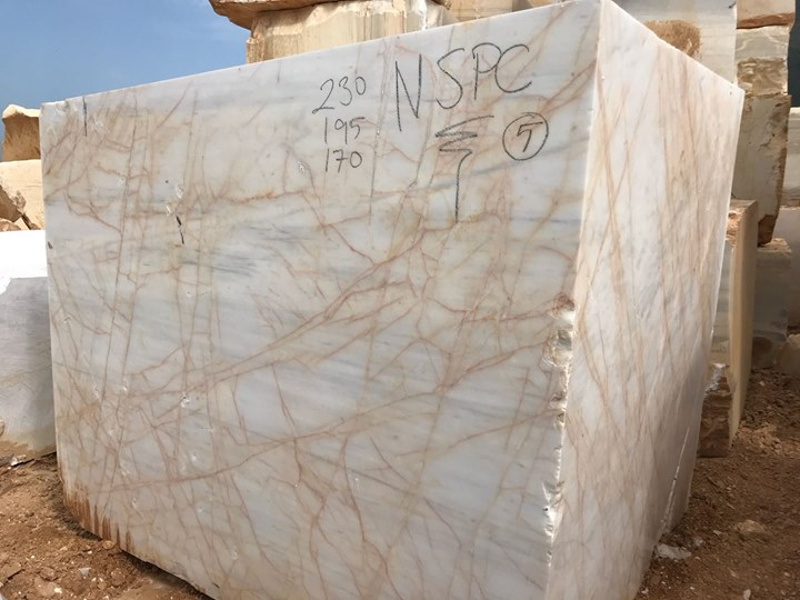 Turkish Golden White Marble Blocks