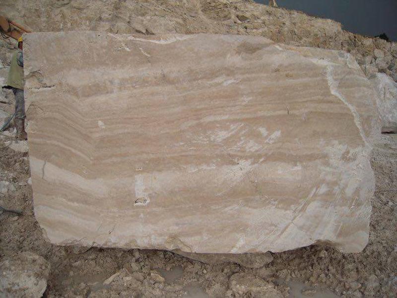 Turkish Goya Ivory Albastrino Travertine Beige Travertine Blocks