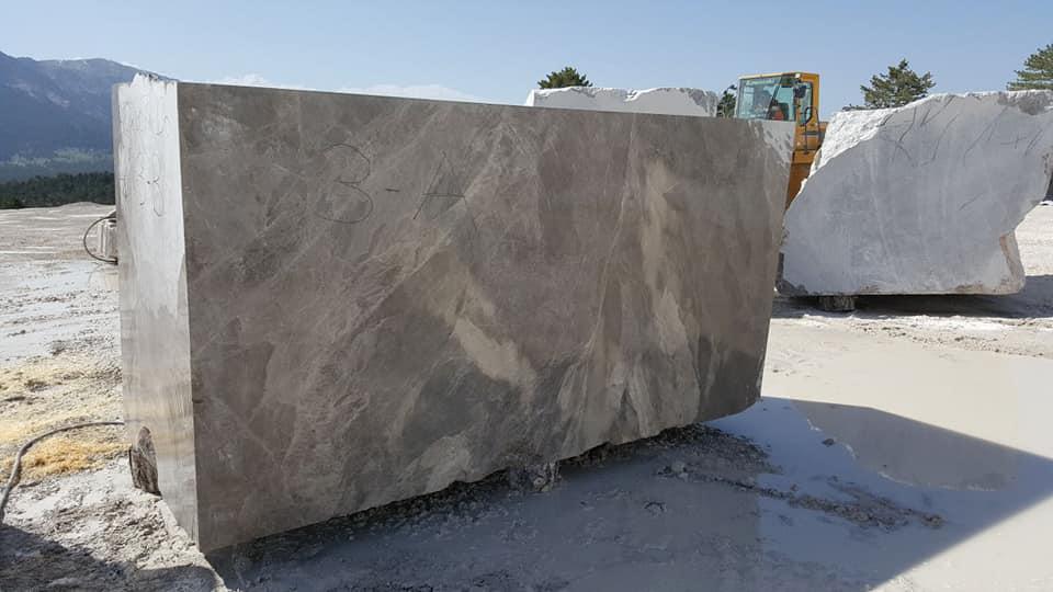 Turkish Grey Marble Blocks Marron Marble Blocks