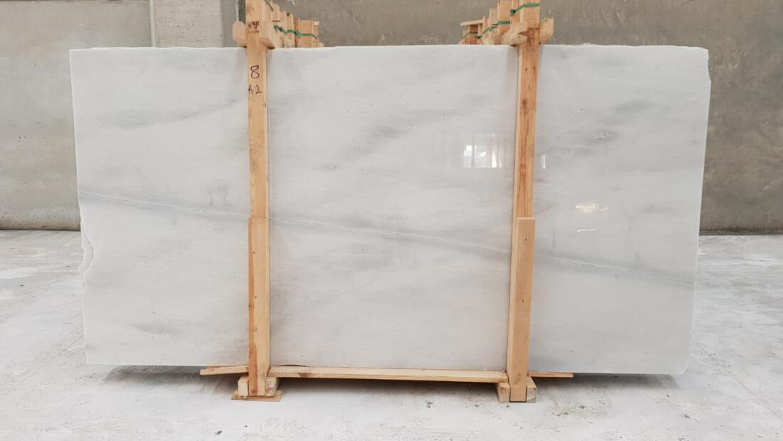Turkish Kemalpasa White Marble Slabs Polished White Marble Stone Slabs