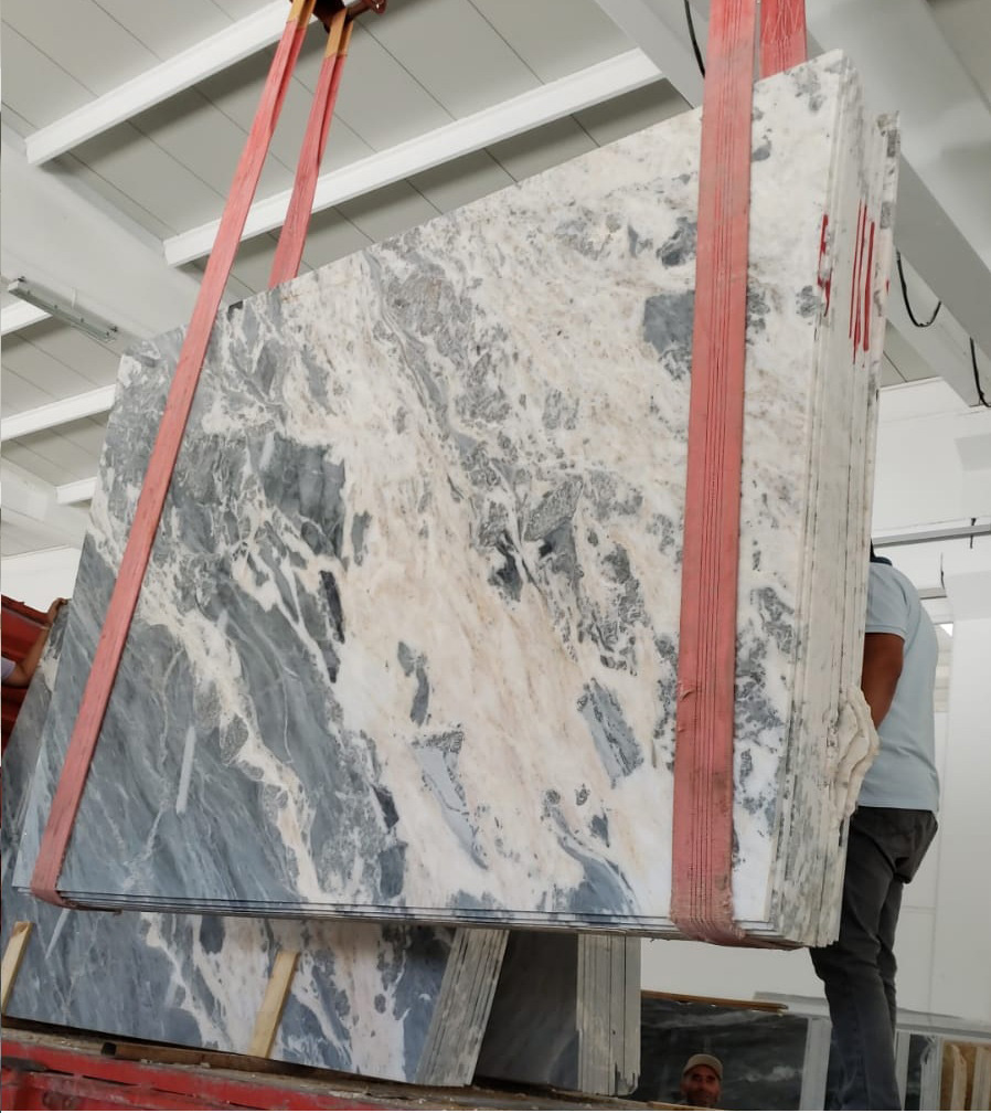 Turkish Mappa White Marble Slab with Competitive Price