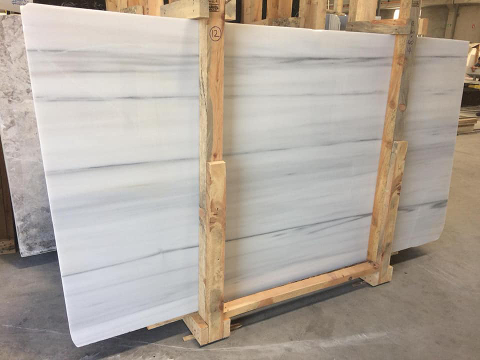 Turkish Marmara White Marble Slabs
