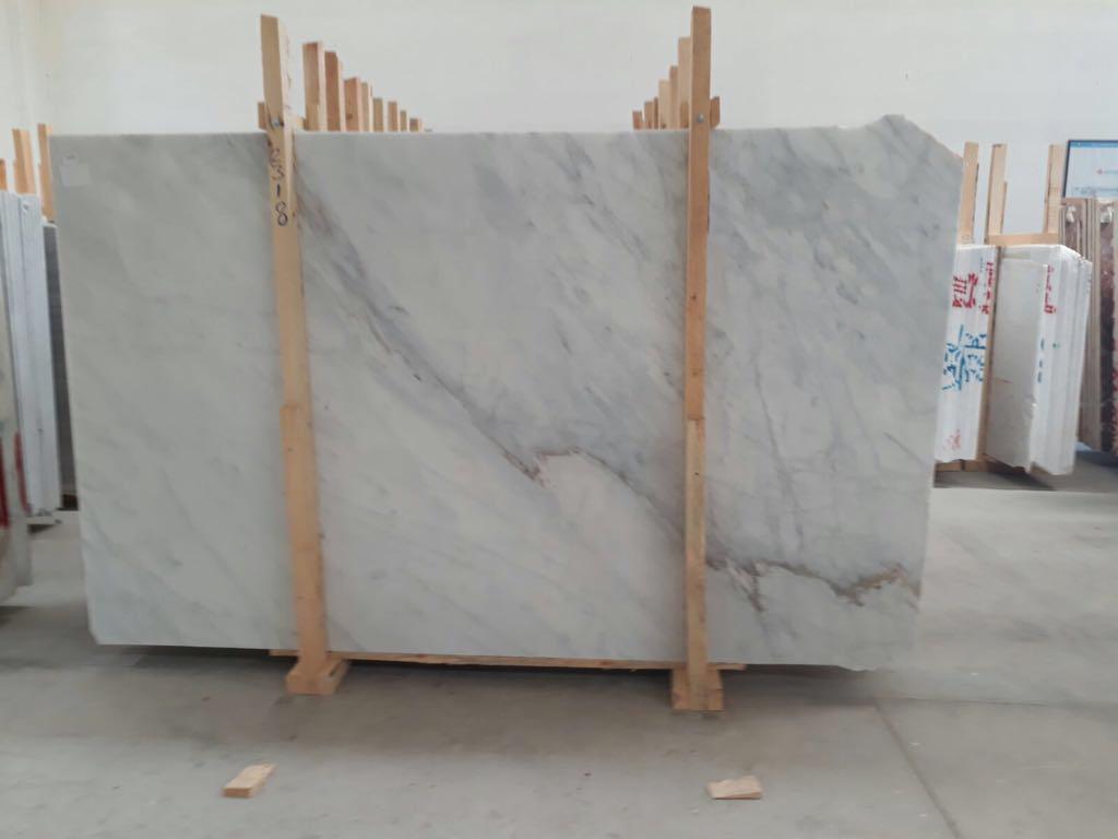 Turkish Mugla White Marble Polished Marble Slabs