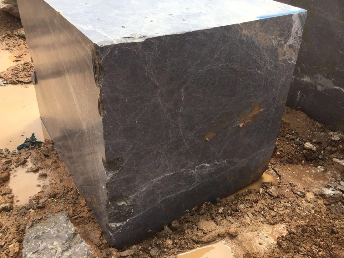 Turkish Olive Grey Marble Blocks