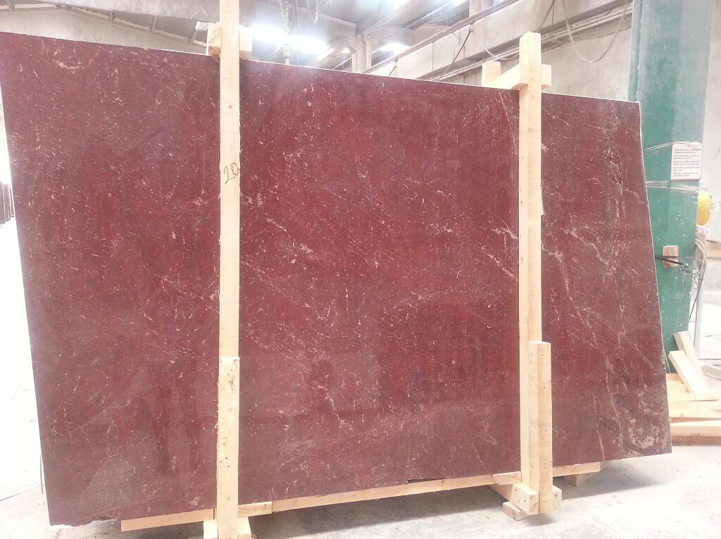 Turkish Rosso Anatolian Wine Marble Polished Slabs