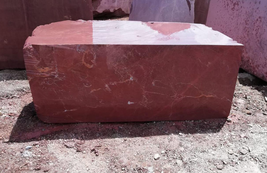 Turkish Rosso Ducale Marble Blocks Anatolian Wine Marble Blocks