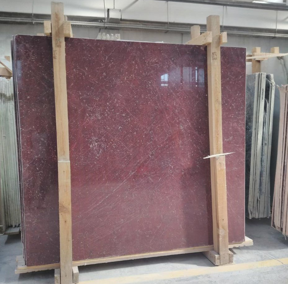 Turkish Rosso Ducale Marble Slabs Anatolian Wine Marble Slabs